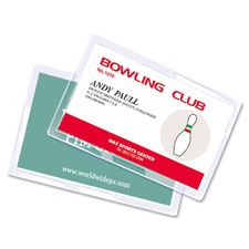 """Akiles 5 mil Business Card Laminating Pouches - Laminating Pouch/Sheet Size: 2.25"""" x 3.75"""" x 5 mil Thickness - for Business Card - Moisture Resistant, Fade Resistant - Clear - 100 / Box"""